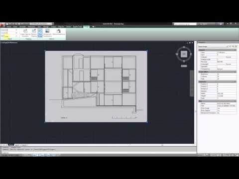 AutoCAD - Import Raster Image & Scale for Tracing