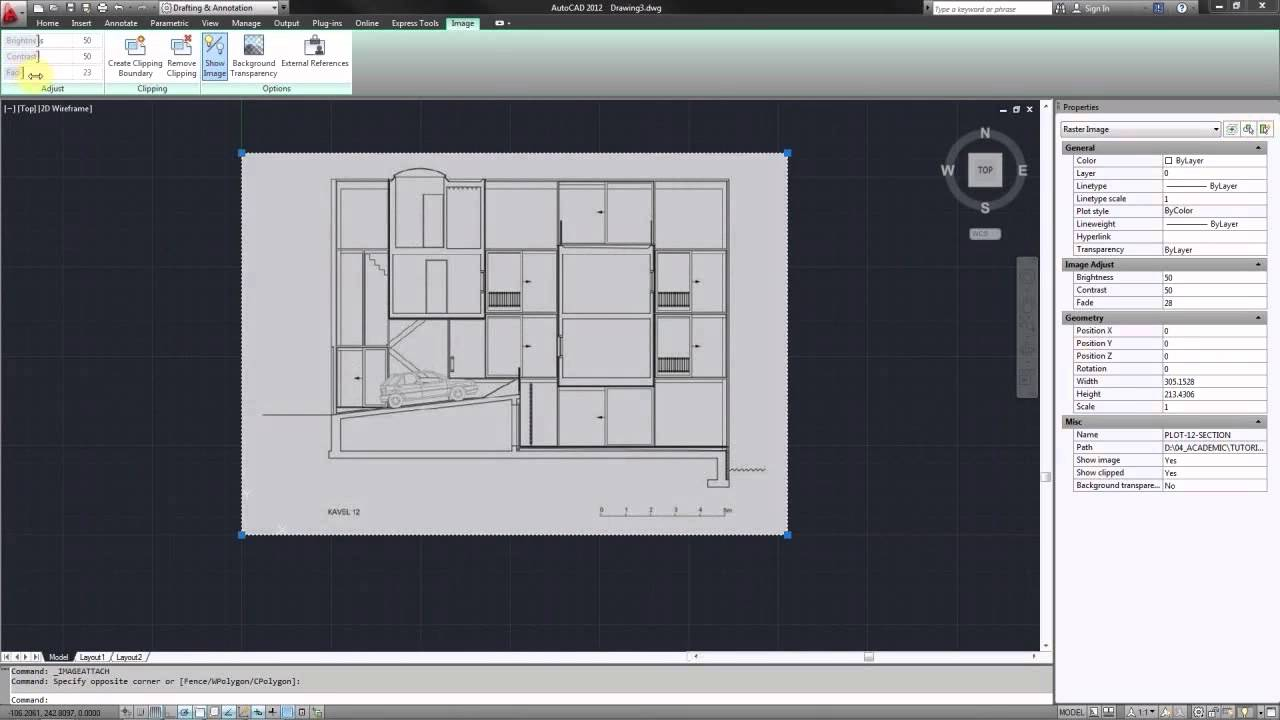 autocad import raster image scale for tracing youtube. Black Bedroom Furniture Sets. Home Design Ideas