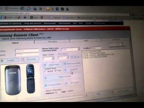 Read Simlock Unlock codes from Samsung E1150