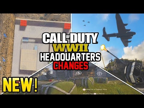 NEW HEADQUARTERS CHANGES! - EVENTS, ADDITIONS AND FUTURE EXPANSION! (Call of Duty WW2)