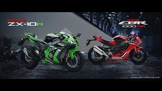 Tin nhanh 24/7 - So sánh 2 siêu mô tô Kawasaki ZX-10R và Honda CBR 1000RR 2017.