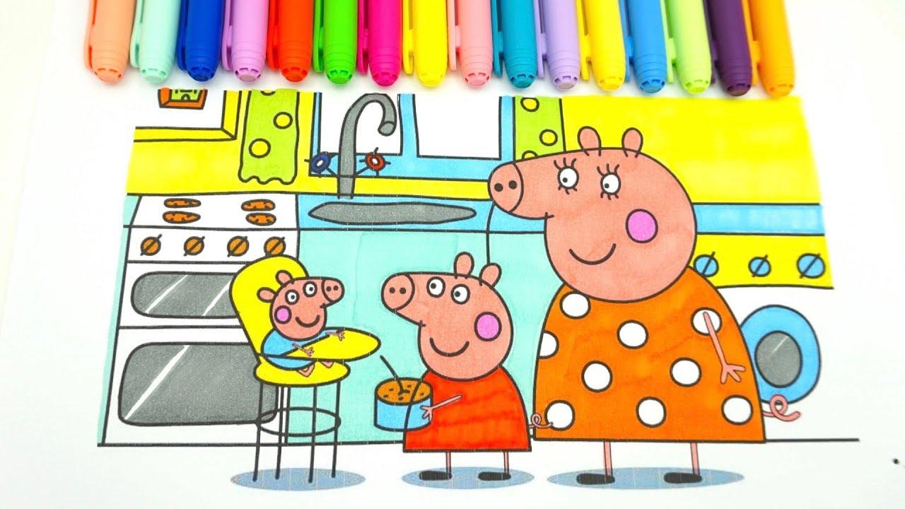 Свинка Пеппа раскраска из мультика