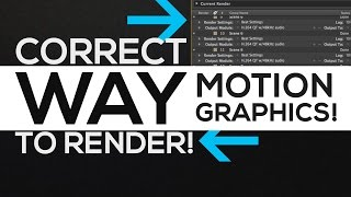 How to RENDER Motion Graphics Correctly │ After Effects RENDERING Tutorial