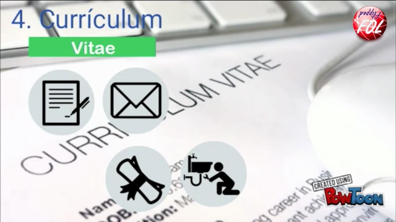 Unidad 12. Vídeo 6. Currículum vitae. FlippedFOL - YouTube
