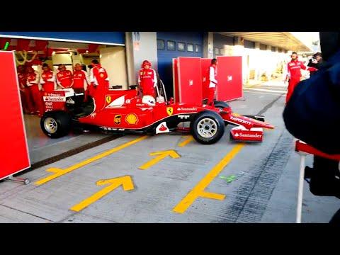 F1 Ferrari SF15-T Sound Sebastian Vettel Test Track Jerez 2015