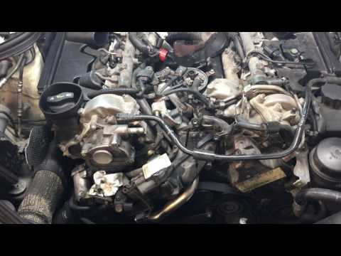 2009 Mercedes E320 Bluetec intake manifolds and oil cooler PART 1
