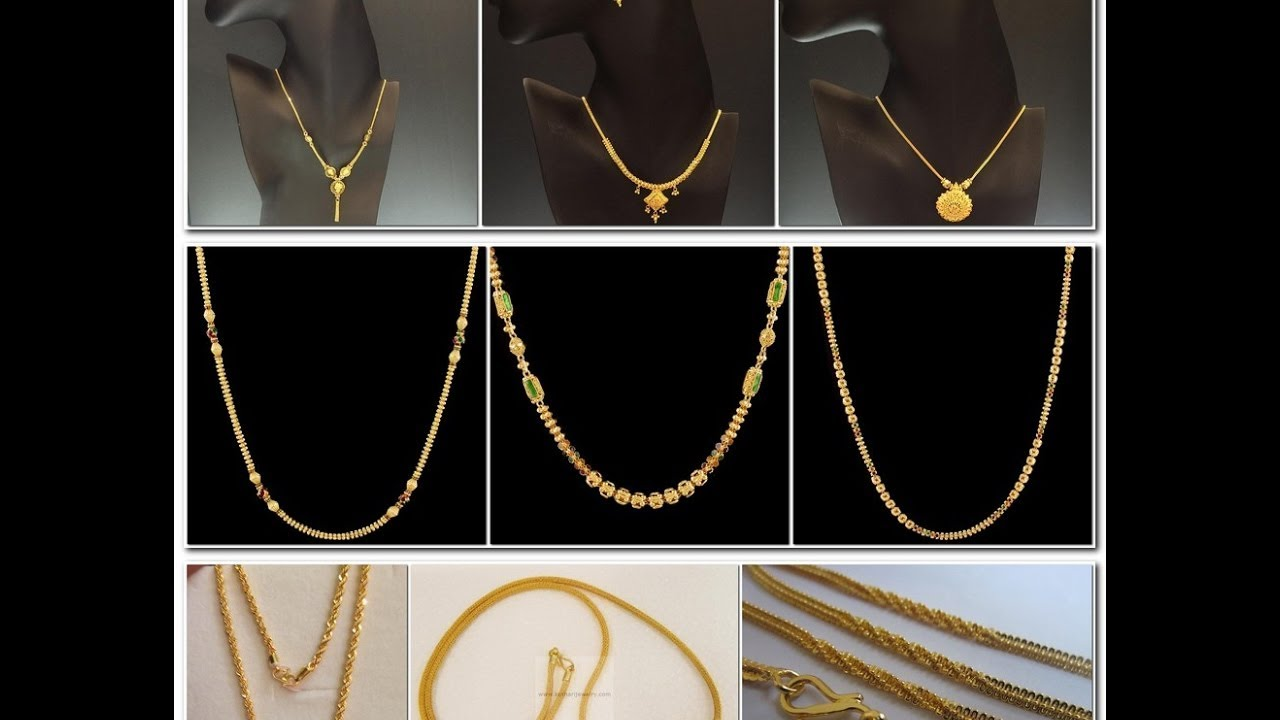 Latest Simple and Beautiful 22 Carat Gold Chains With Matching ...