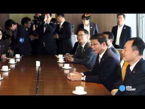 North Korean leaders make surprise visit to South
