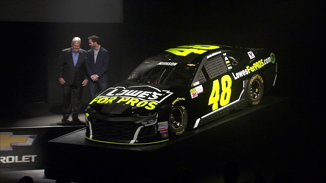 Jimmie Johnson Chevy >> Brand new look for Jimmie Johnson's No. 48 for the 2018 Daytona 500 - YouTube