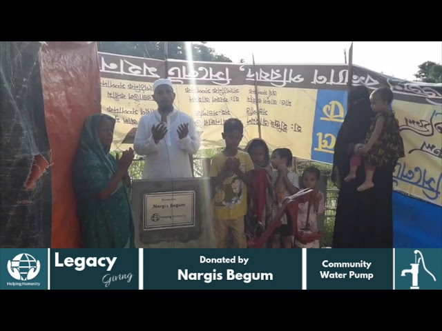 Water Pump Donated by Nargis Begum