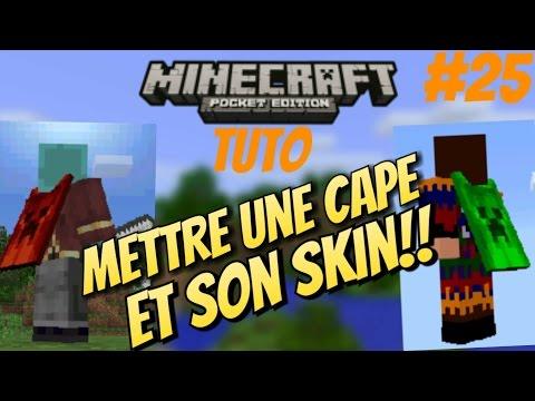 Minecraft PE Tuto - Mettre une cape et un skin en multi et en solo (Obsolète)