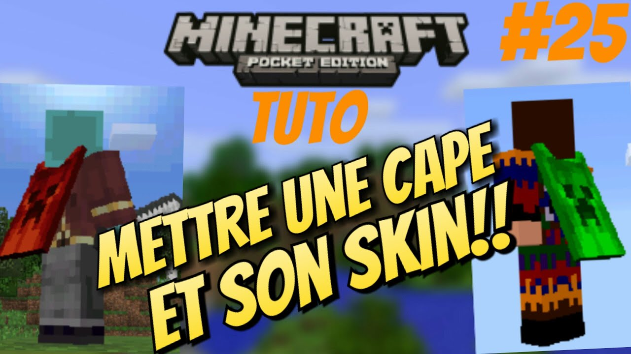how to download minecraft pe capes