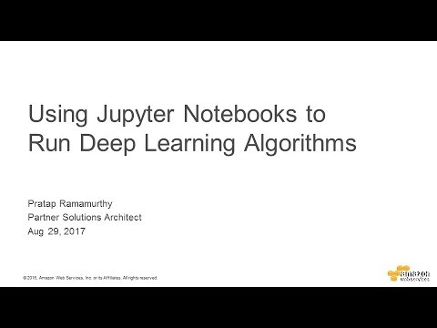 Using Jupyter Notebooks to Run Deep Learning Algorithms - 2017 AWS Online Tech Talks