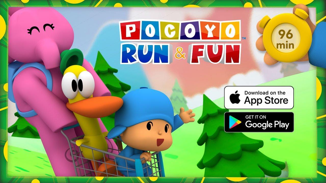 🛒POCOYO AND NINA - Run & Fun: Funniest races [96 min] ANIMATED CARTOON for Children   FULL episodes