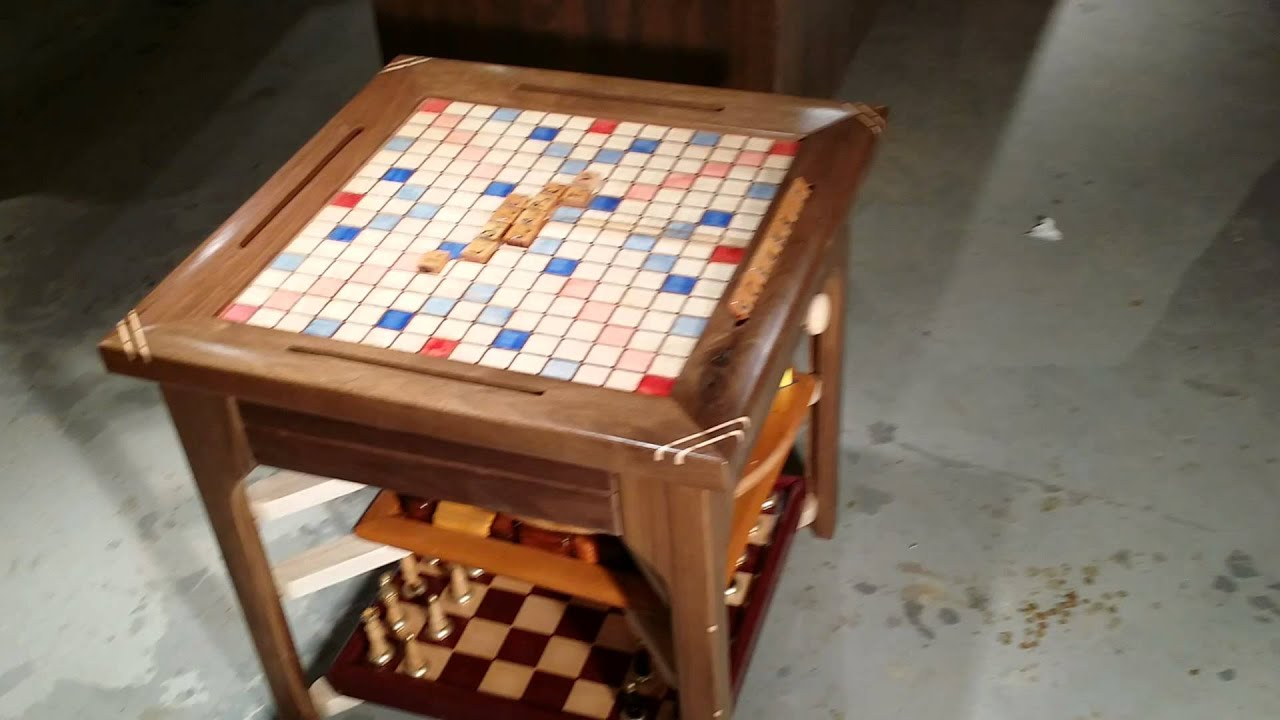 Scrabble End Table   YouTube