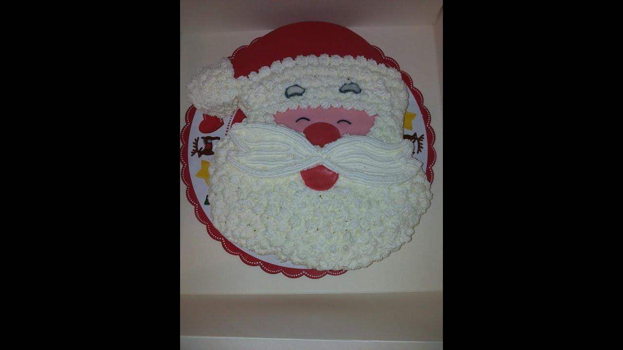 Torte Decorate Per Natale torta di natale - babbo natale