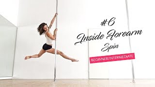 The most gorgeous pole dance spin with the most boring name / Inside Forearm Spin tutorial