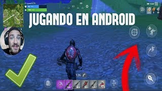 *JUGANDO FORTNITE en ANDROID* MI PRIMERA PARTIDA EN ANDROID FORTNITE BATTLE ROYALE - GALAXY S8