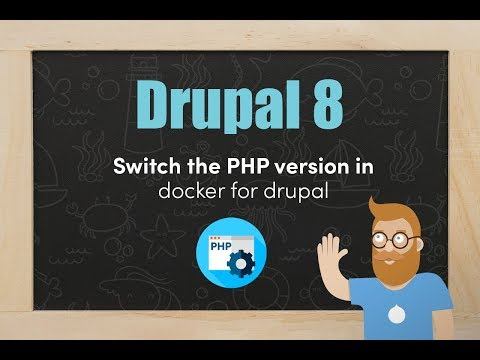 Switching the PHP version in docker4drupal thumbnail