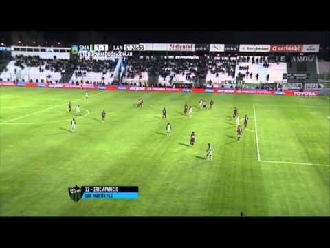 ¡Bombazo! Aparicio hizo un gol increíble y San Martín rescató un punto ante Lanús