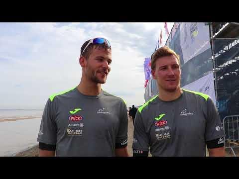 Rising beach volleyball stars from Switzerland Nico Beeler