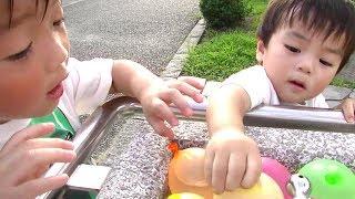 水風船で遊ぶ  ひなごんとおいちゃん  SunflowerTV thumbnail