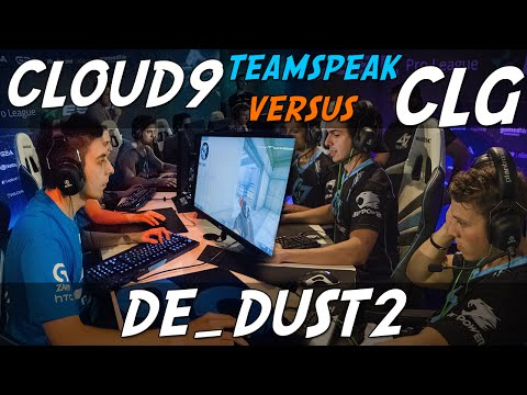 CS:GO - Cloud9 [teamspeak] vs CLG (dust2) @ ESL ESEA Pro Lea