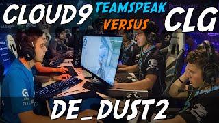 CS:GO - Cloud9 [teamspeak] vs CLG (dust2) @ ESL ESEA Pro League Finals