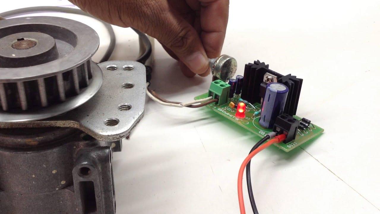 Lm317 Based Dc Motor Speed Reducer Youtube