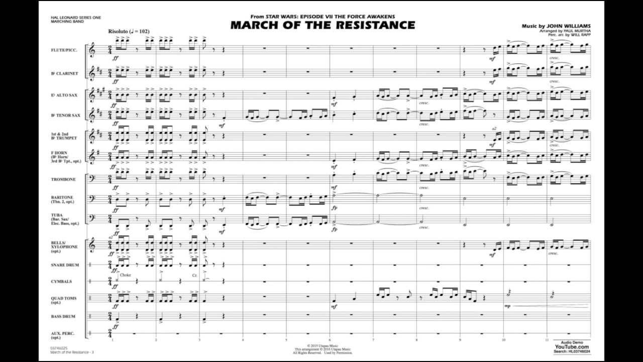 March of the Resistance by John Williams/arr  Paul Murtha