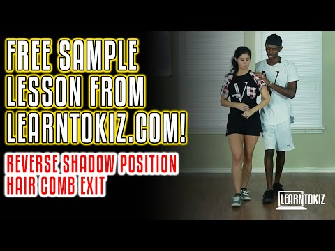 Free Urban Kiz Sample Lesson From Learntokiz.com! | Reverse Shadow Position Into Hair Comb