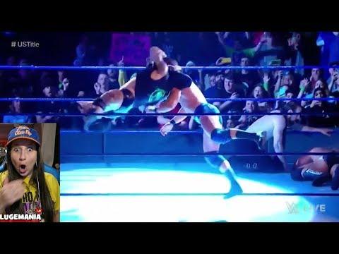 WWE Smackdown 2/6/18 Randy Orton RKOS Roode English & Rusev