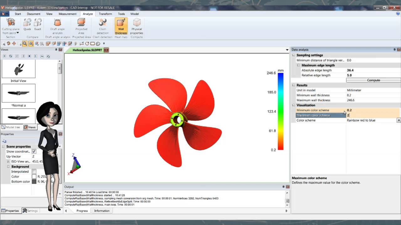 CAD Interop - Analyze Thickness from many CAD formats in a