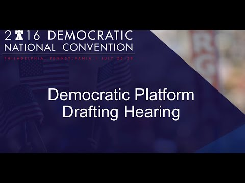 Democratic Platform Drafting Hearing -St. Louis - Day 1 PM section