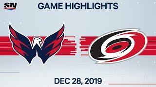NHL Highlights   Capitals vs. Hurricanes - Dec. 28, 2019
