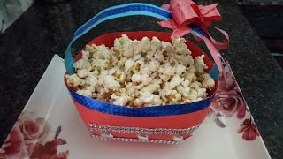 Mouthwatering butter popcorn😍😋 | resembling readymade popcorns