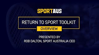 Return to Sport Toolkit - Overview