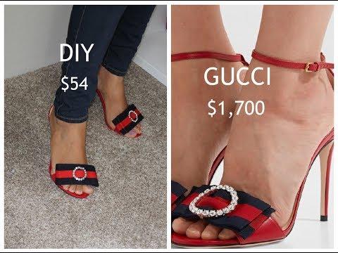 DIY Sandalias GUCCI/ Sandalias inspiración en Gucci