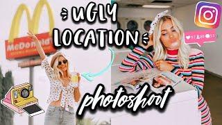 UGLY LOCATION PHOTOSHOOT CHALLENGE! | Aspyn Ovard