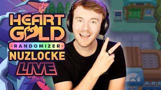 RUNNING THROUGH KANTO'S GYMS! • Pokemon Heart Gold Randomizer Nuzlocke • LIVE!