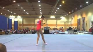 Darya Skrypnik - Russian Junior Nationals 2015 - FX AA - 14.100