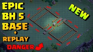 Epic Builder Hall 5 Base (BH5) + Defense Replay / BH5 Base Layout | Clash of Clans