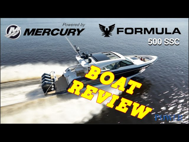 (live) #FORMULA 500 SSC WITH #MERCURY QUAD 600 HP'S! (BOAT REVIEW)