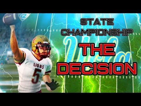 COLLEGE DECISION AND STATE CHAMPIONSHIP!!!   NCAA 14 RTG Ep. 4