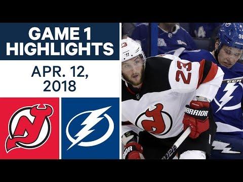 NHL Highlights | Devils vs Lightning, Game 1 - Apr. 12, 2018