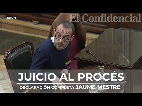 [JUICIO PROCÉS] La declaración completa de Jaume Mestre que podrían investigar por falso testimonio