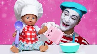 Видео игры Вкусняшки для куклы БЕБИ БОН Детские игры готовить Мультик для детей с Baby Born