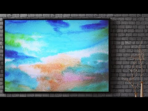 Easy Abstract Landscape Painting Demo / For Beginners / Daily Art Therepy