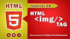 HTML video tutorial - 28 - html img tag