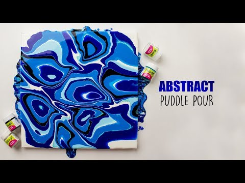 Abstract Puddle Pour | Pouring Art